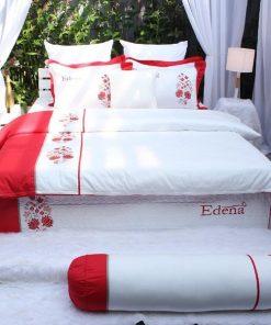 Bộ Chăn Ga Gối Edena Cotton Solid 358 4