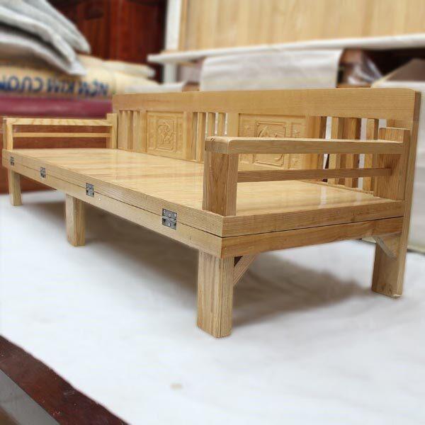 giường ngủ gỗ sồi gấp
