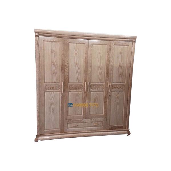 tủ quần áo gỗ sồi 4 cánh